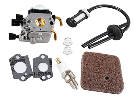 Amazon Com Podoy Fs45 Carburetor For Stihl Fs55 Carb Kit Fuel Air