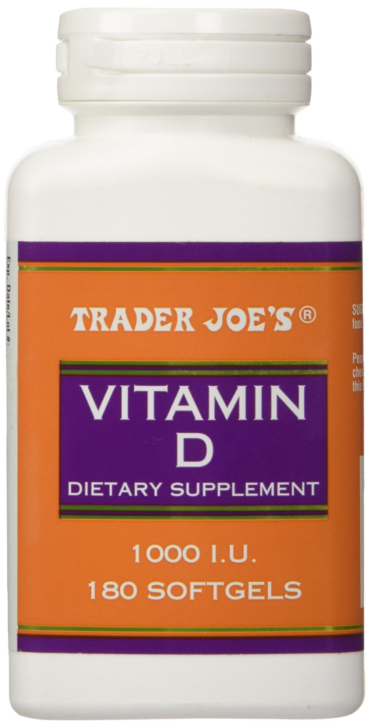 Trader Joes Vitamin D-3 1000iu, 180softgels