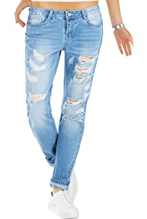 68a4eb85f7aa Fashion4Young 5396 Damen Jeans Röhre Skinny Damenjeans Stretch Denim  Destroyed Cut-Outs Ankle. EUR 29,99 · bestyledberlin Relaxed Fit Damen Jeans,  ...
