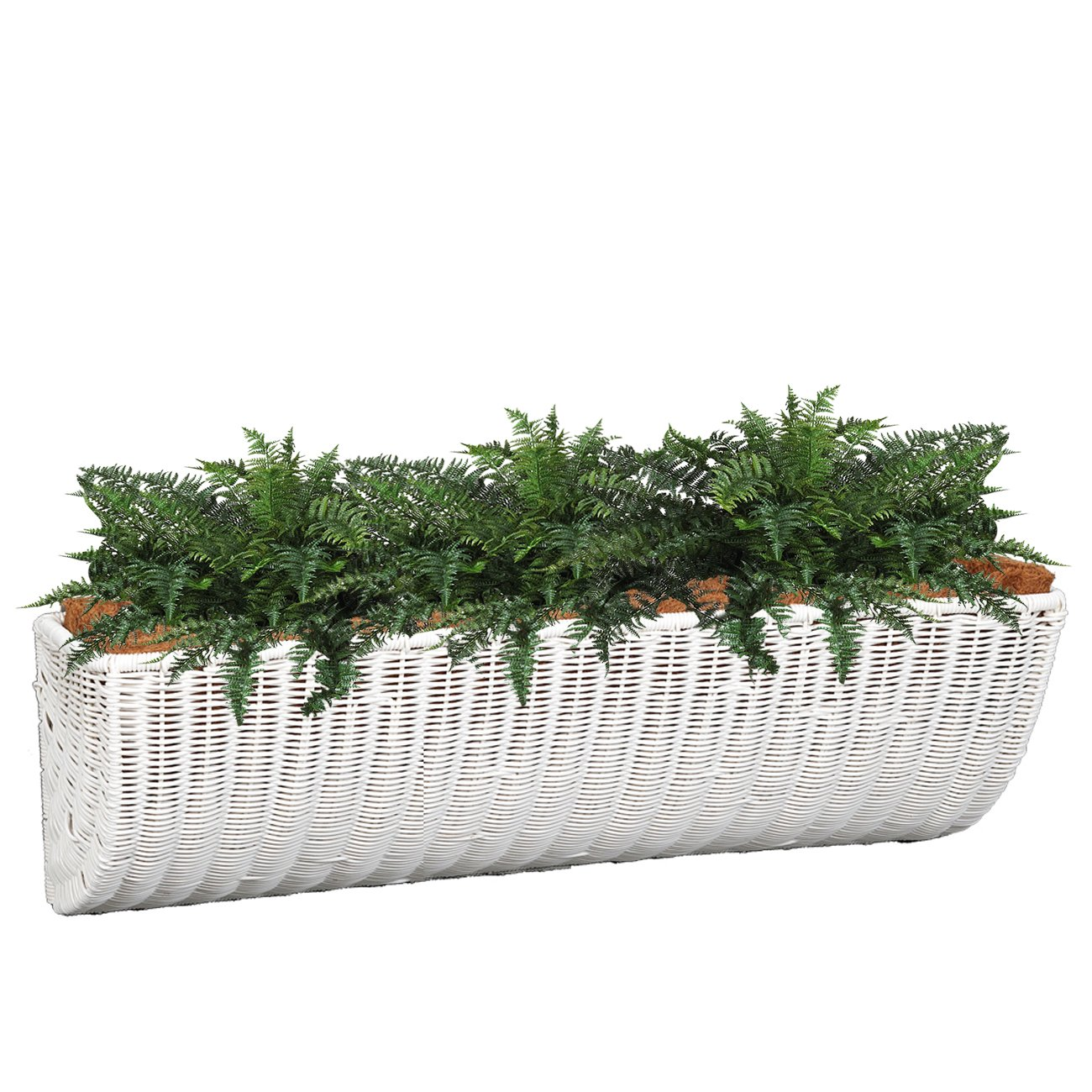 DMC Products 36-Inch Resin Wicker Wall Basket, White
