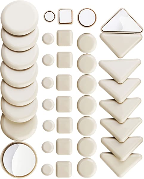 """48 Pack Heavy Duty 2-1//4/"""" Round Felt Pads Sliders for Legs Chair Sofa Furniture"""