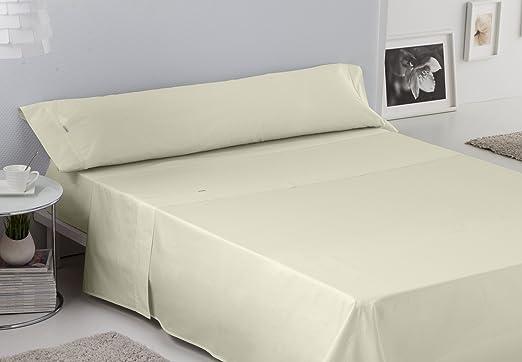 ESTELA - Juego de sábanas Lisos BIÉS 200 Hilos Color Marfil (3 Piezas) - Cama de 105 cm. - 100% Algodón - 200 Hilos: Amazon.es: Hogar