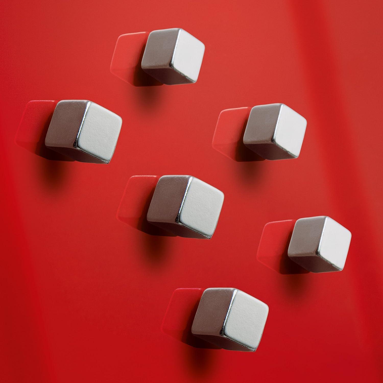 oro SIGEL GL717 Magneti SuperDym Artverum per lavagne magnetiche di vetro a forma di cubo 6 pz