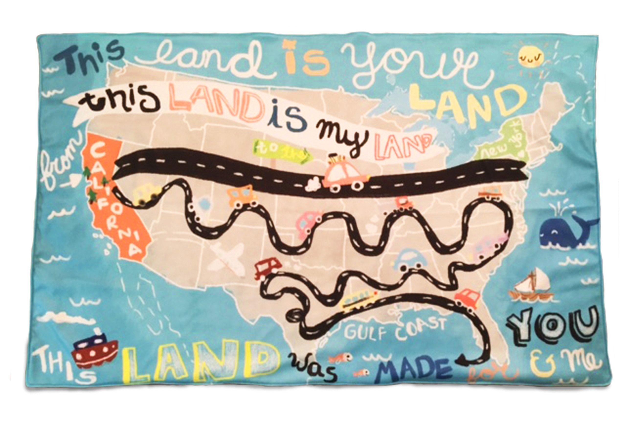 This Land (U.S. Map) Baby/Toddler Blanket