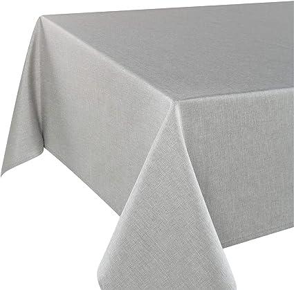 Tischdecke Wien Grau 140x220 Cm Fleckschutz Tischdecke Fur Das Ganze Jahr Amazon De Kuche Haushalt