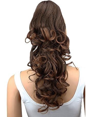 PRETTYSHOP Voluminosa corrugado peluca peluca trenza cola de caballo Cola de caballo fibra sintética 60cm mezcla
