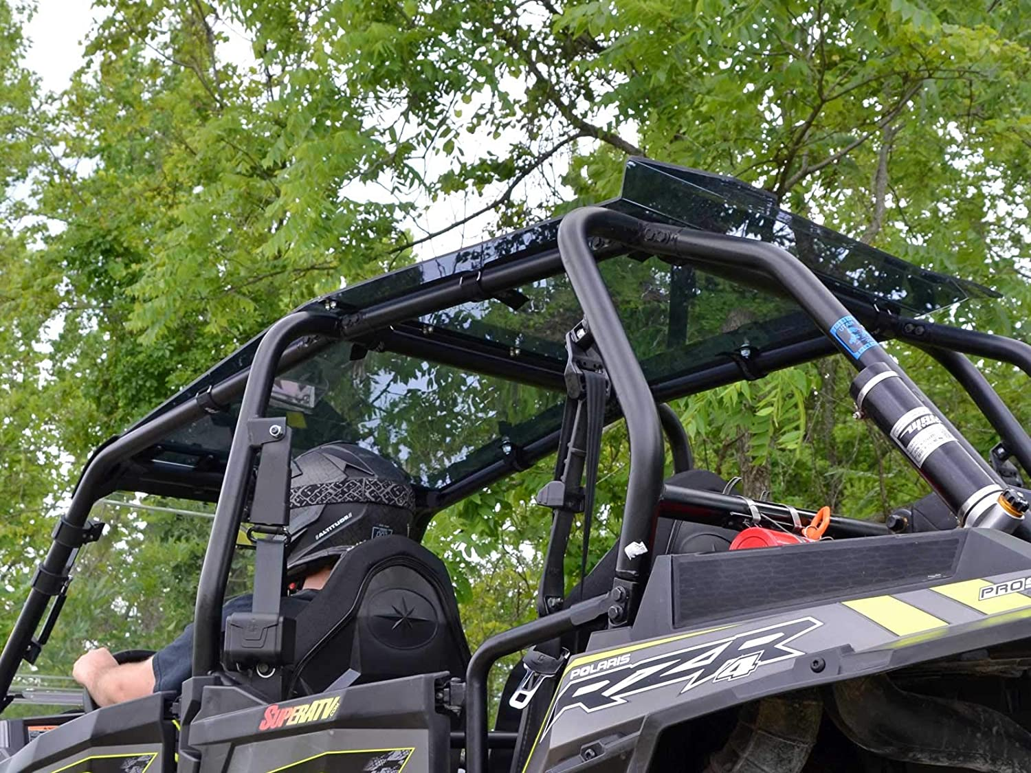 2015+ SuperATV Dark Tinted Roof for Polaris RZR 4 900 Easy to Install!