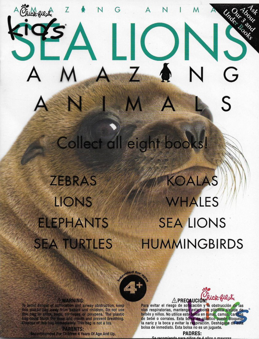Chick-fil-A Amazing Animals: Sea Lions Paperback – 2016
