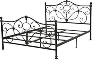 Christopher Knight Home Cedric Iron Bed, Queen, Charcoal