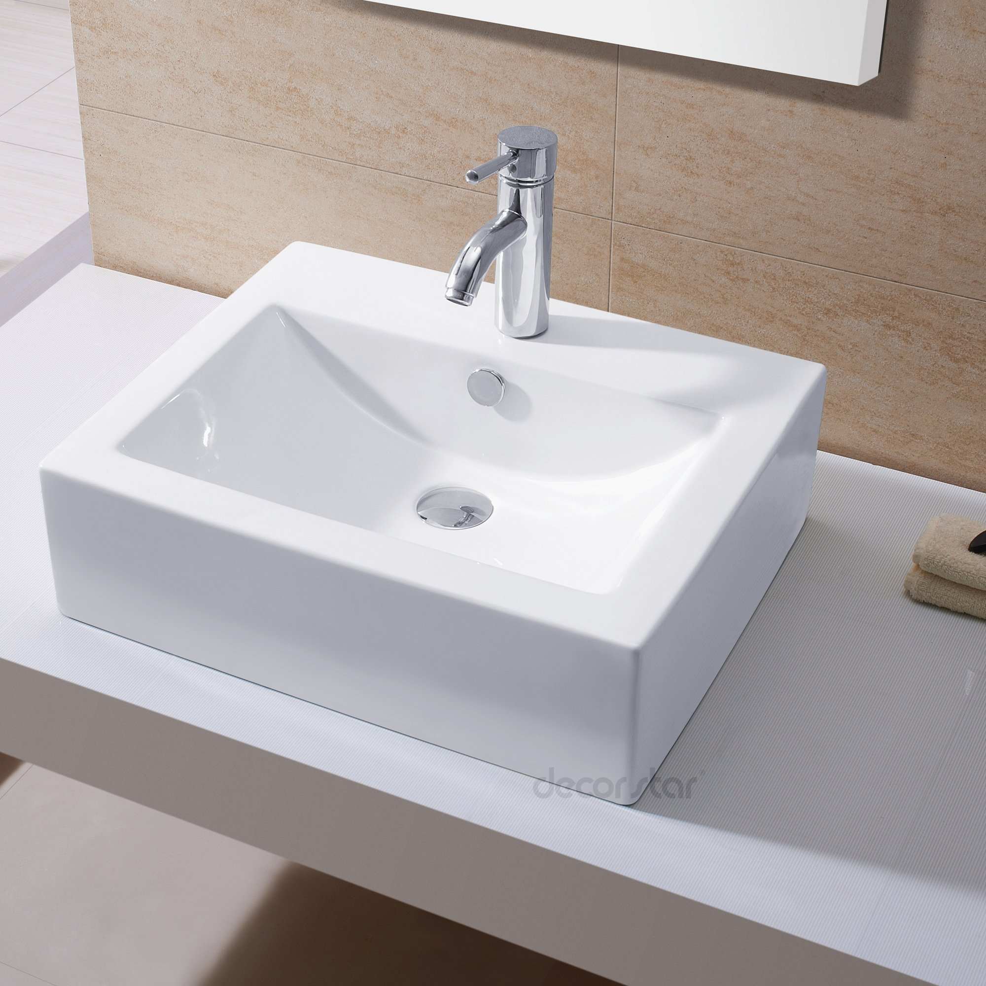 Decor Star CB-003 Bathroom Porcelain Ceramic Vessel Vanity Sink Art Basin