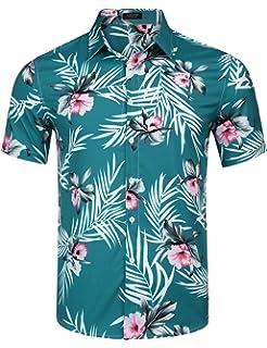 c230dfc55 COOFANDY Men's Hawaiian Aloha Shirt Short Sleeve Floral Print Casual Button  Down Shirts