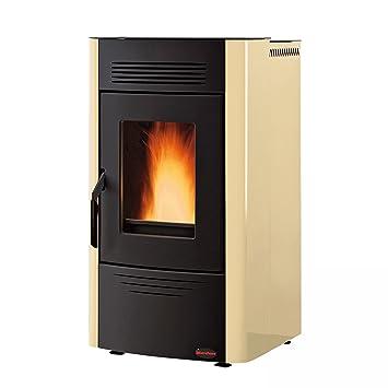 La Nordica - Extraflame Estufa a PELLAS Dorina revestimiento de acero Potencia térmica nominal 6.2 KW Color Pergamino: Amazon.es: Hogar