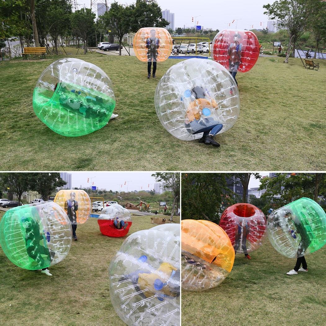 Mewalker Giant Inflatable Bumper Ball 0.8MM TPU Bubble Soccer Ball Zorb Ball Human Hamster Ball With 2 Handles 2 Adjustable Shoulder for Children Kids Adults Playground Outdoor (1.2M-1.5M,US STOCK) by Mewalker (Image #7)
