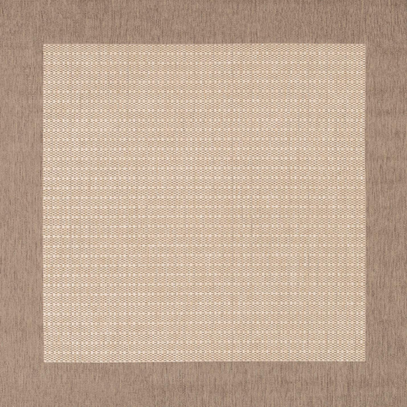 Couristan 1005 3000 Recife Checkered Field Natural Cocoa Rug