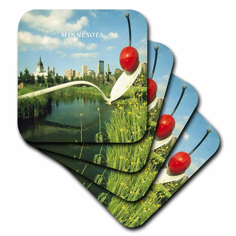 Set of 4 3dRose cst/_62052/_1 Minneapolis Sculpture Garden Soft Coasters