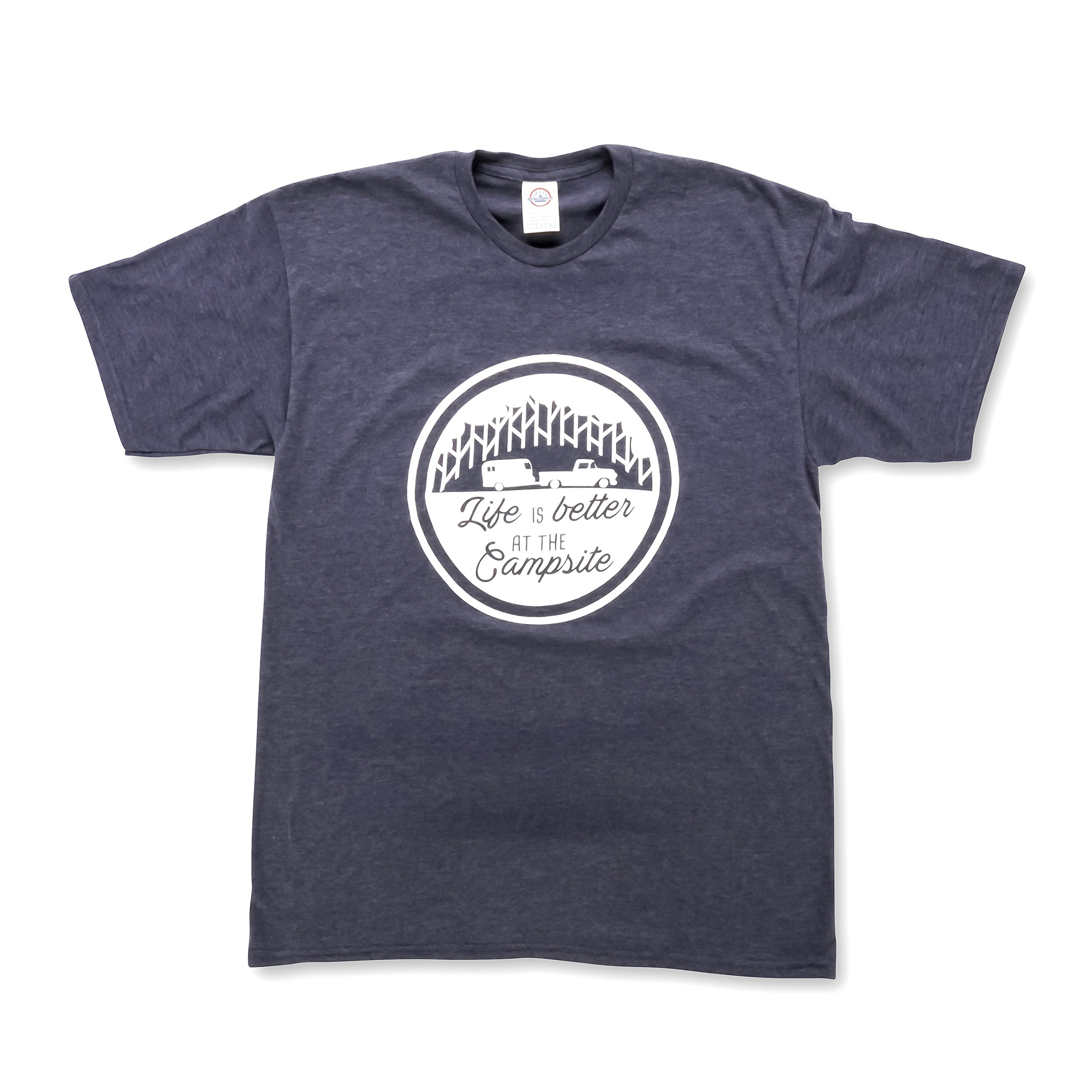 Camco ''Life Is Better At The Campsite'' Crew Neck Short-Sleeve T-Shirt (Navy Blue, X-Large) (53215)