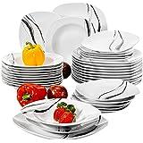 VEWEET 'Teresa Servizio da tavola in porcellana 36 pezzi   Piatto per 12 persone   Ognuno con 12 piatti da dessert, 12 piatti fondi e 12 piatti piani
