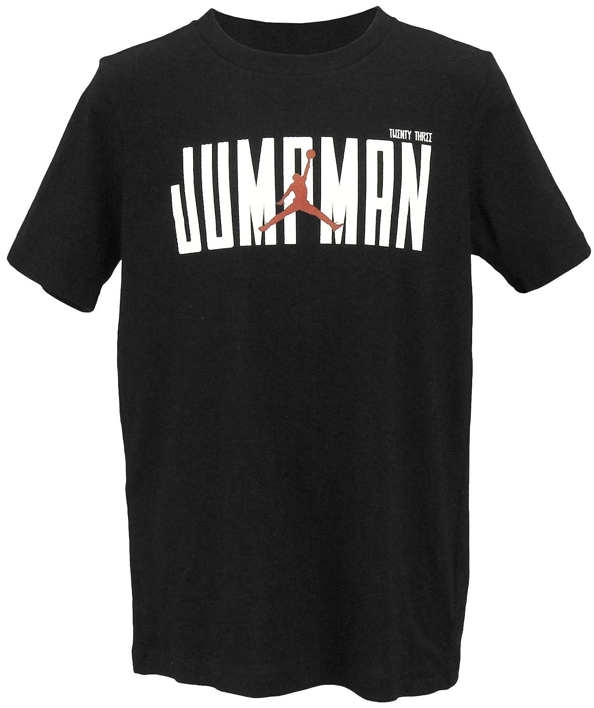 Jordan Graphic-Print Cotton T-Shirt Black Nike Small Big Boys