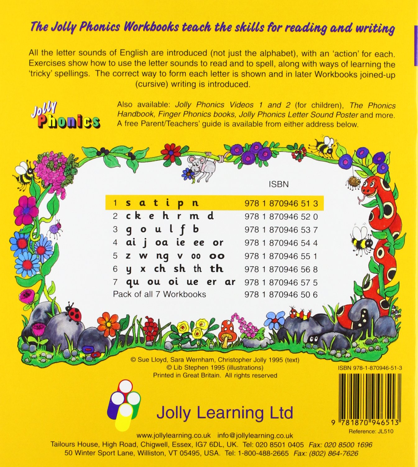 Buy Jolly Phonics Workbooks 1 7 Book Online At Low Prices In India