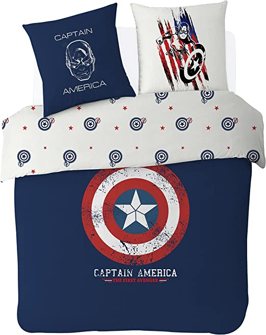 Juego de sábanas Capitán América. Cama individual | Juegos