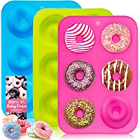 BAKHUK Molde de dona, molde de dona de silicona, 3 paquetes de moldes antiadherentes para donuts, bagels y más, la…