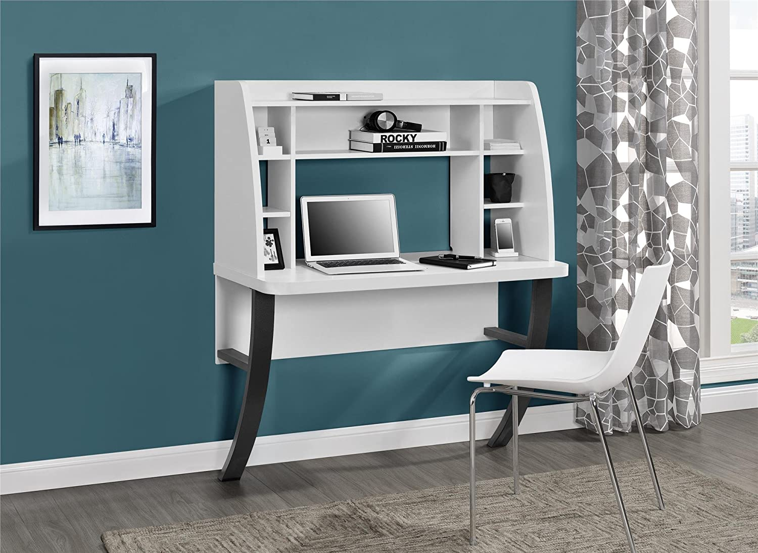 Amazon.com: Altra Eden Wall Mounted Desk, White: Kitchen & Dining