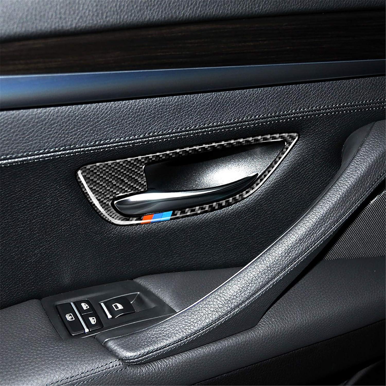 Classic Carbon Fiber Door Window B+C Pillar Post Panel Frame Decal Cover Trim for BMW 5 Series 6th F10 F11 F18 520 523 525 528 530 535 2010-2016 5WM