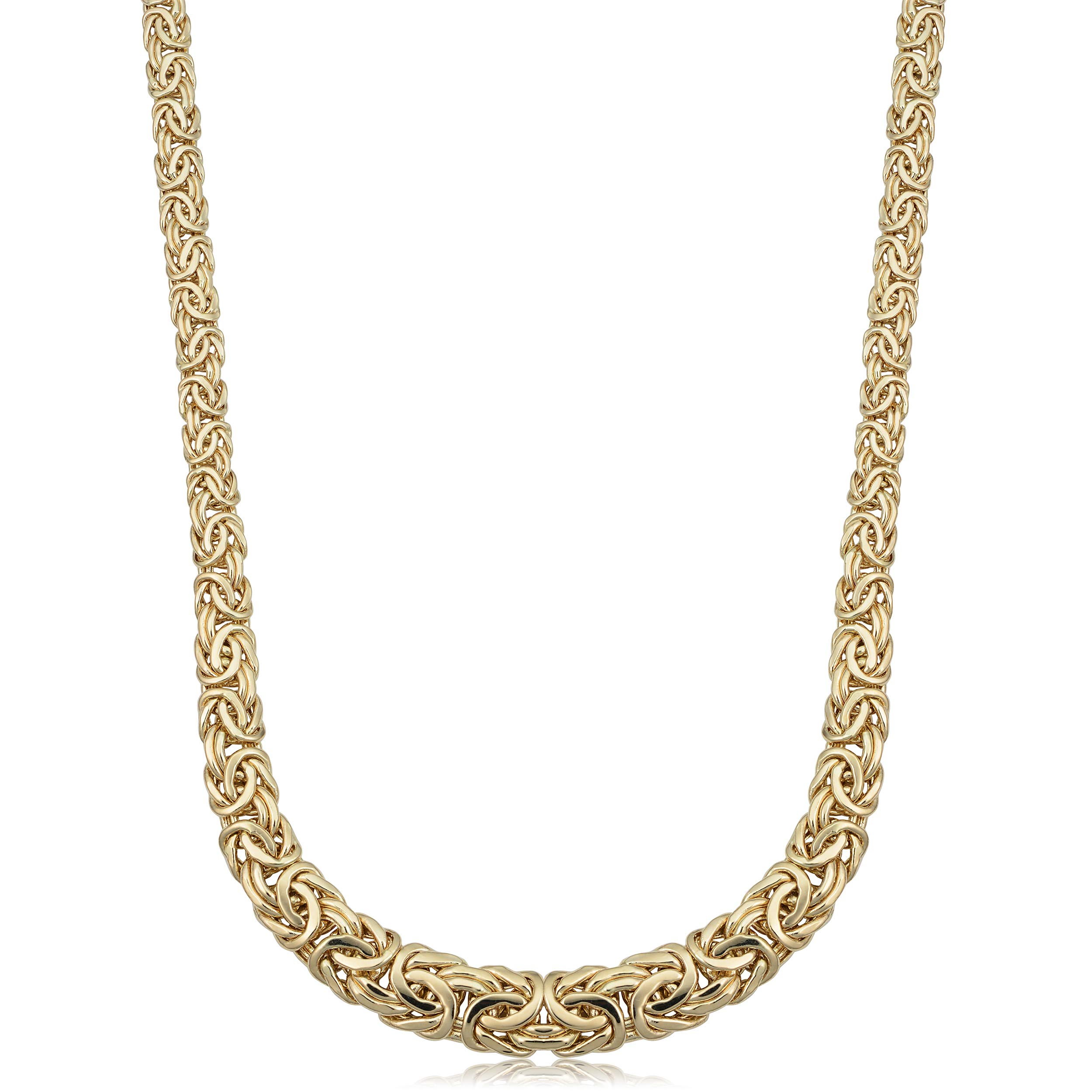 14k Yellow Gold Weave Link Necklace (18 inch)
