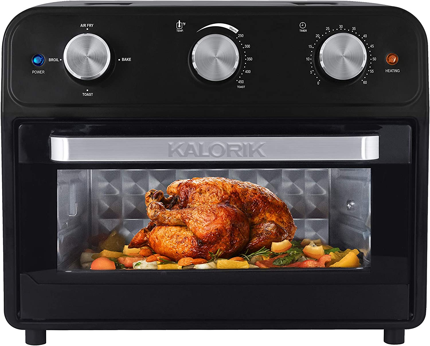 Kalorik 22 Quart Air Fryer Toaster Oven, Black