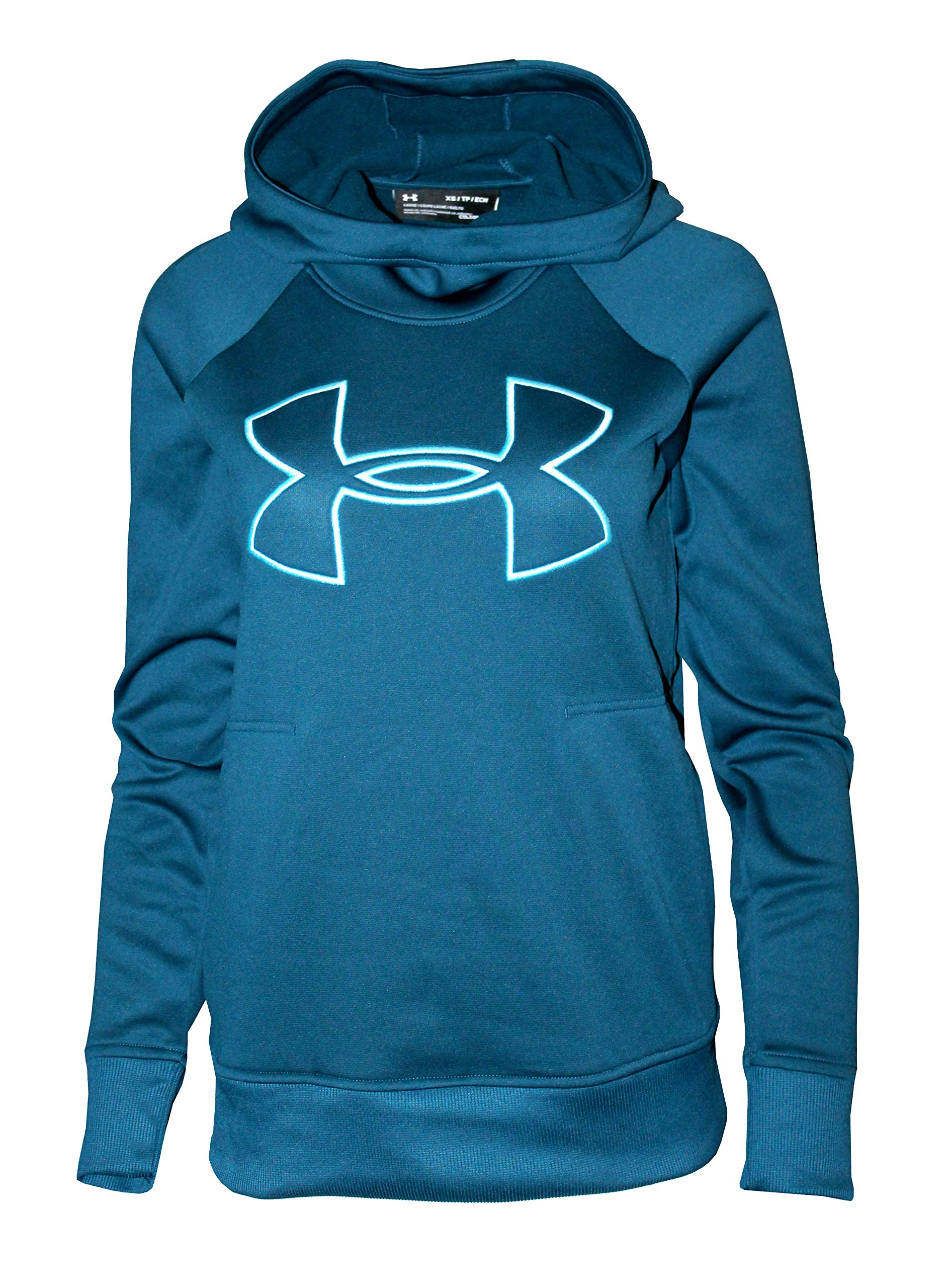Under Armour Women's Hoodie Active Big Logo Pullover 1318396 (Techno Teal, XL) by Under Armour