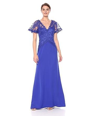 1fbcc87521 Tadashi Shoji Women s Elbow Sleeve Long Gown at Amazon Women s Clothing  store