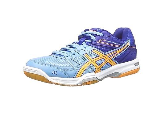 ASICS Gel-Rocket 7 Volleyball Shoes - Zapatillas de deporte para mujer, color Azul