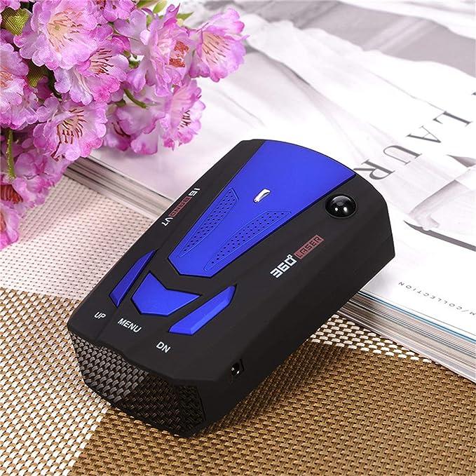 GBY V7 Detector antirradar Alerta de voz Pantalla LED Radar del coche Velocímetro Sistema de prueba de velocidad del coche Azul Rojo Color led luz de noche ...
