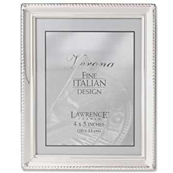 Amazoncom Lawrence Frames Polished Silver Plate 4x5 Picture Frame