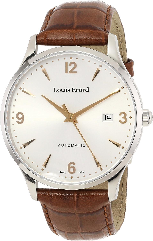 Louis Erard hombre 69219AA11. bdc801931automático reloj de acero inoxidable con correa de cuero