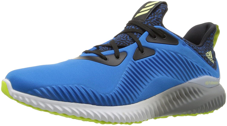 - adidas pour Homme Alphabounce Chaussure de Course à Pied - Bleu - Shock bleu Ice jaune Light gris,