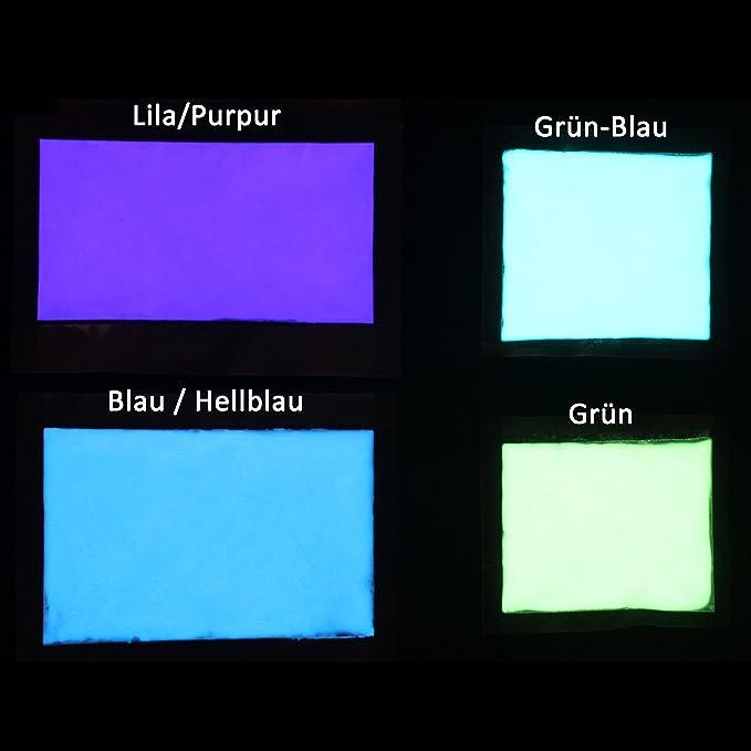 Premium fluorescentes brilla en la oscuridad pigmentos - profesional Luminous Glow Polvo, self-luminous polvo, pigmentos, Pigment, UV neón luminoso de noche ...