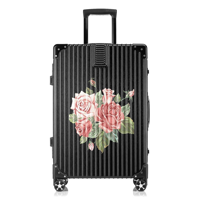 GSHCJ スーツケース 美しいコウシンバラの花束 キャリーケース 20インチ おしゃれ ブラック Tsaロック搭載 プリント ハード 超軽量 軽い 機内持込 ロックファスナー 旅行 ビジネス 出張 海外 修学旅行 丈夫 便利 レディース メンズ 学生 B07RZ6CX8T
