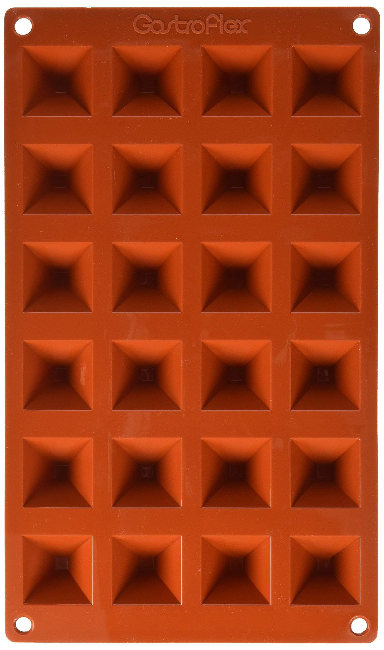 Matfer Bourgeat Gastro Flex Mini Pyramid Mold, Red