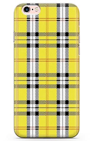 timeless design a948e 4def2 iPhone 6 Case, iPhone 6s Designer Yellow Plaid Phone Case by Casechimp® |  Clear Ultra Thin Lightweight Gel Silicon TPU Protective Cover | Checked ...