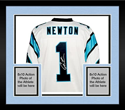 d6e113103 Image Unavailable. Image not available for. Color: Framed Cam Newton  Carolina Panthers Autographed Nike Elite White Jersey ...