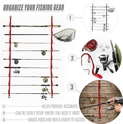 Aleratec Prosumer's Choice 9 Loop Flexible Fishing Rod Rack