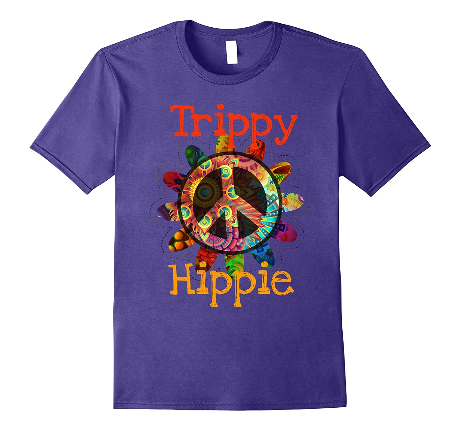 Trippy Hippie Peace Sign T-Shirt-T-Shirt