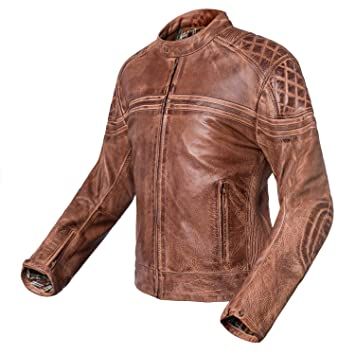 Chaqueta de moto de piel vintage Invictus Eros (XL)