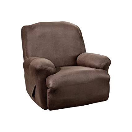 Sure Fit Stretch Leather 1 Piece   Recliner Slipcover   Dark Brown (SF37162)