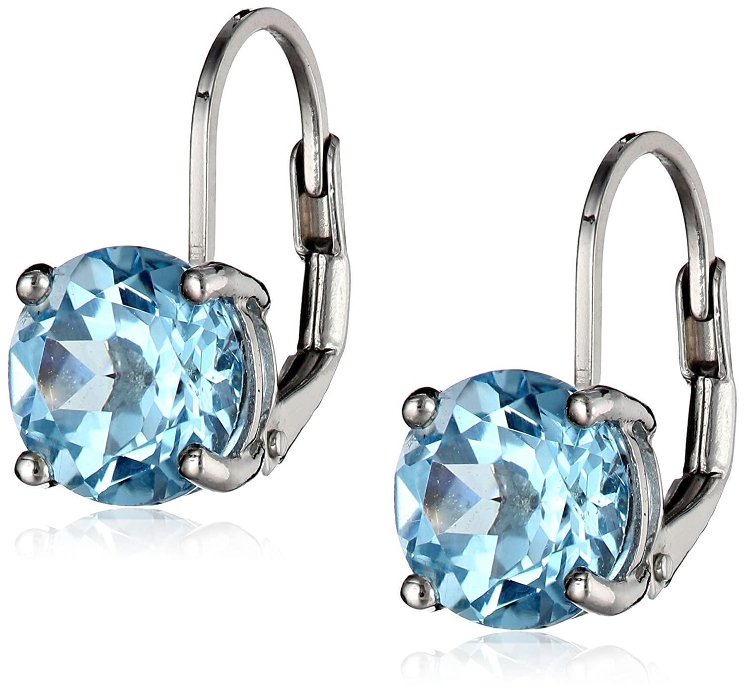 Sterling Silver 8mm Back Earrings Amazon Collection EW4362A