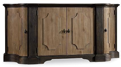 Credenza Dark Wood : Amazon hooker furniture corsica door credenza in light and