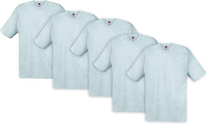 Pacco da 5 Fruit of the Loom Original T T-Shirt Uomo