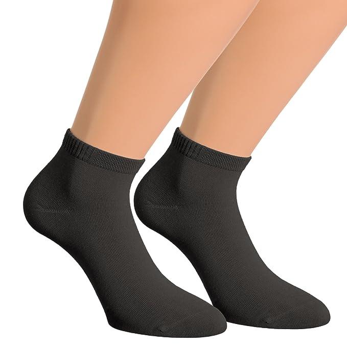 Vitasox Calcetines cortos de bambú 43015, calcetines tobilleros unicolor, calcetines cortos, quarter,