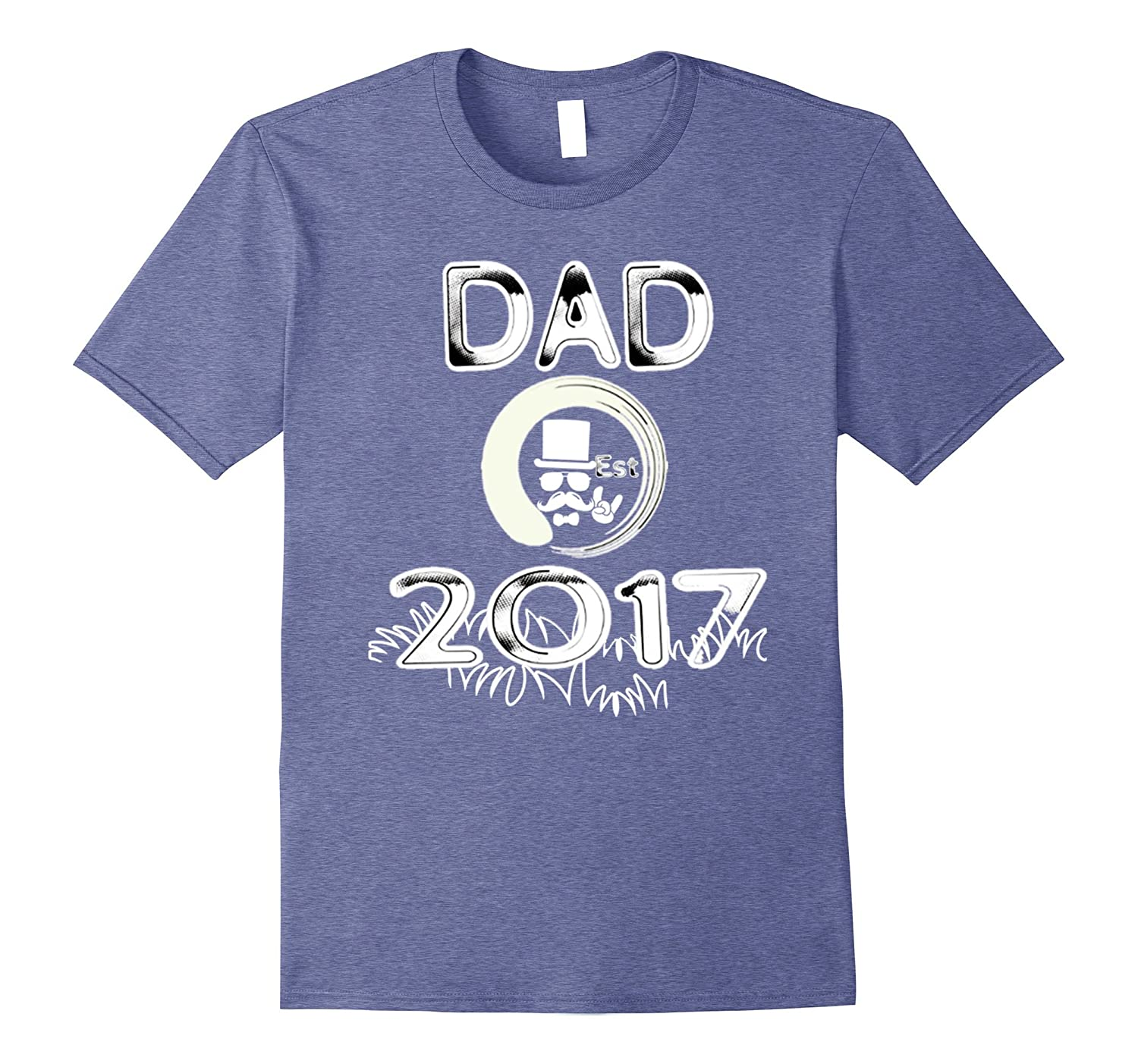 Fathers Day T-Shirt Cool Dad Est 2017 First Time Dad Gift-Vaci
